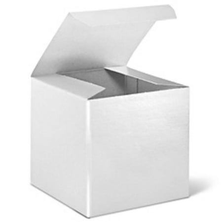 24 white cardboard paper gift favor boxes 2 5 cubes. Black Bedroom Furniture Sets. Home Design Ideas