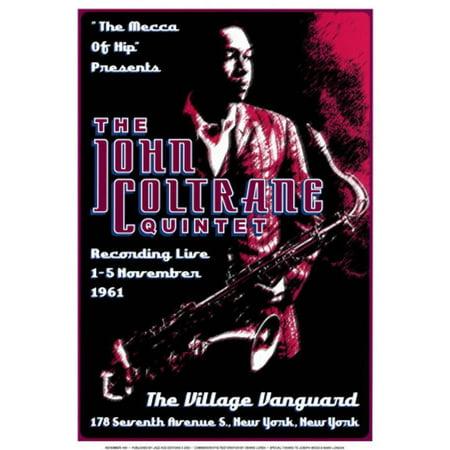 John Coltrane Quintet at the Village Vanguard, New York City, 1961 Art (Best Villages In New York)