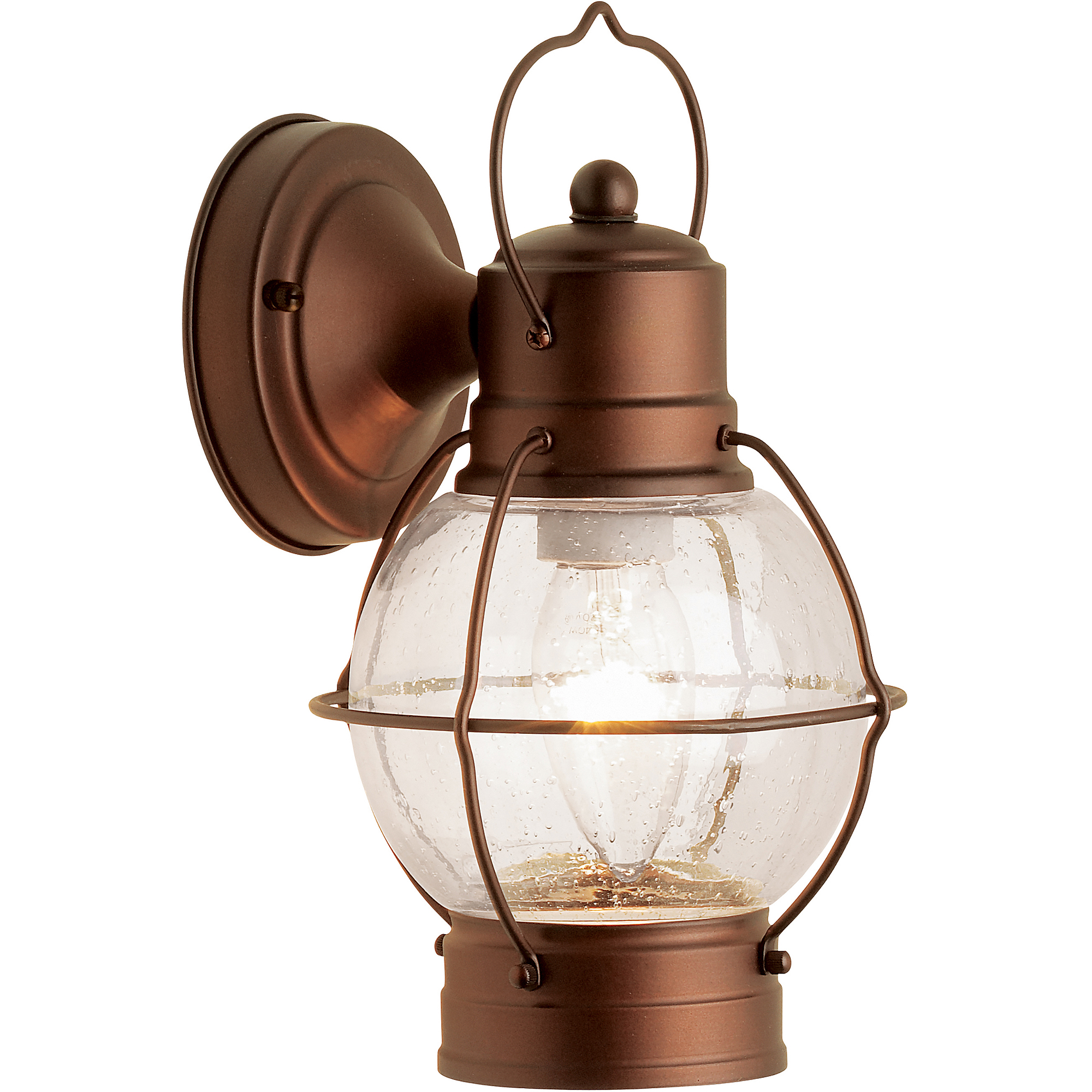Hampton rustico lantern outdoor lighting aged bronze walmart aloadofball Choice Image