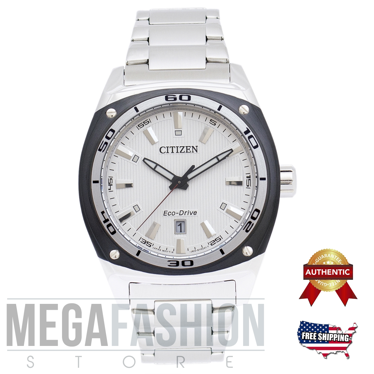 CITIZEN MEN´S ECO DRIVE SILVER WATCH AW1041-53B