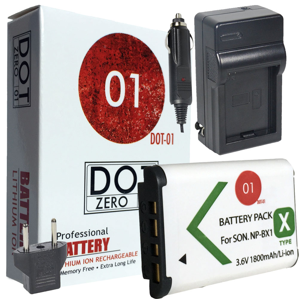 DOT-01 Brand 1800 mAh Replacement Sony M8 Battery and Charger for Sony HDR-PJ440 Camcorder and Sony M8