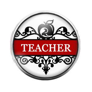 Teacher - 18MM Glass Dome Candy Snap Charm GD0298