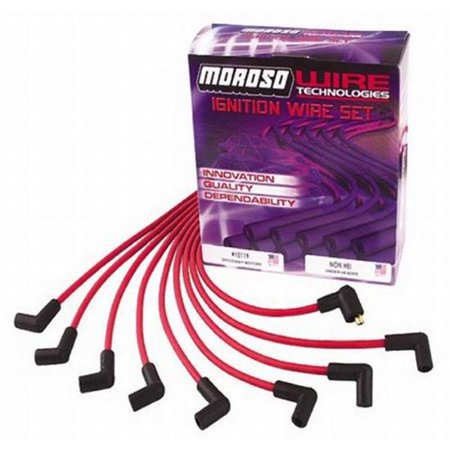 Moroso Ready to Install Plug Wires HEI/Under Header/Blk