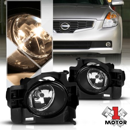 10 Nissan Altima Coupe - Chrome Housing Clear Lens Fog Light Bumper Lamps for 08-13 Nissan Altima Coupe 09 10 11 12