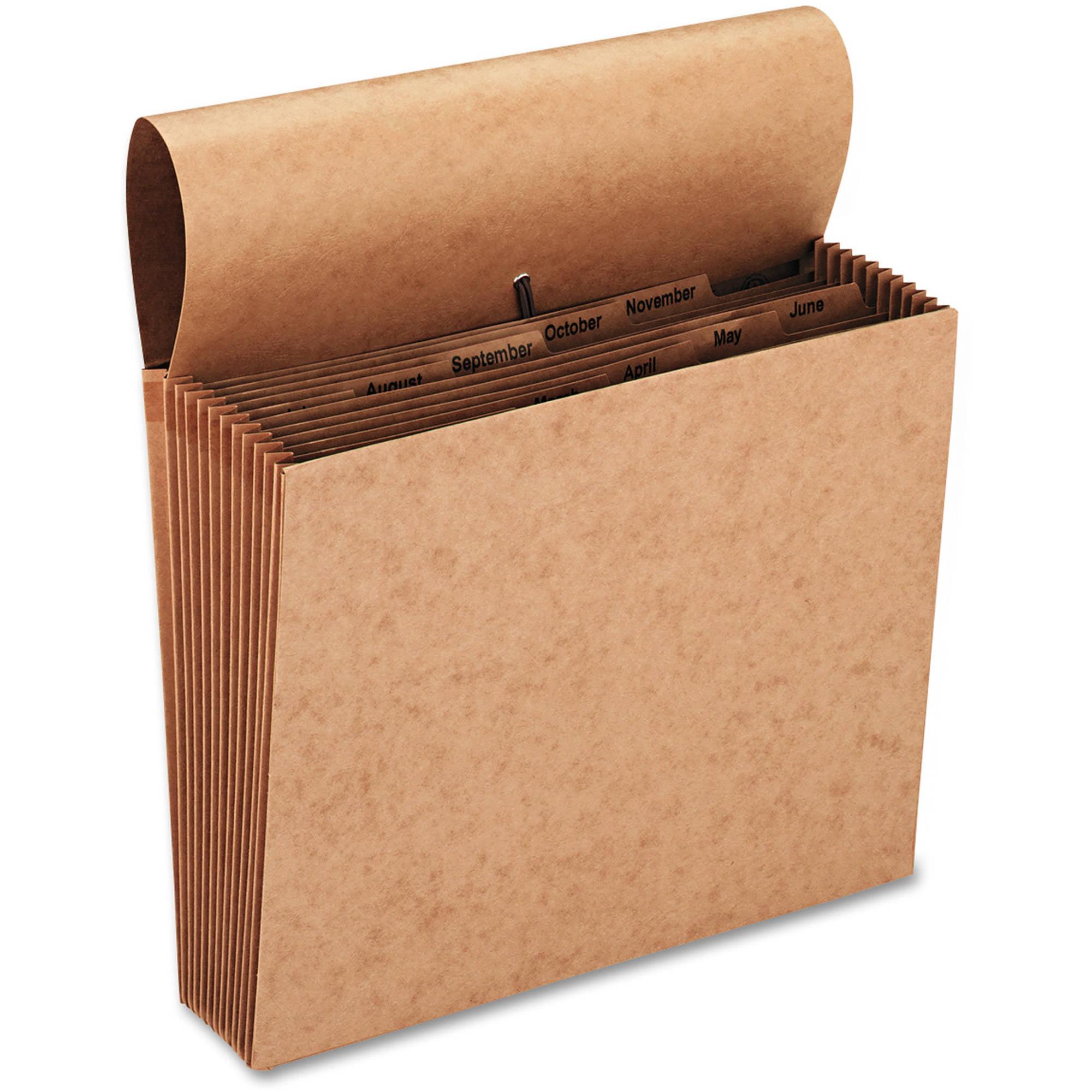 Smead Jan-Dec Indexed Expanding Files, 12 Pockets, Kraft, Letter, Brown