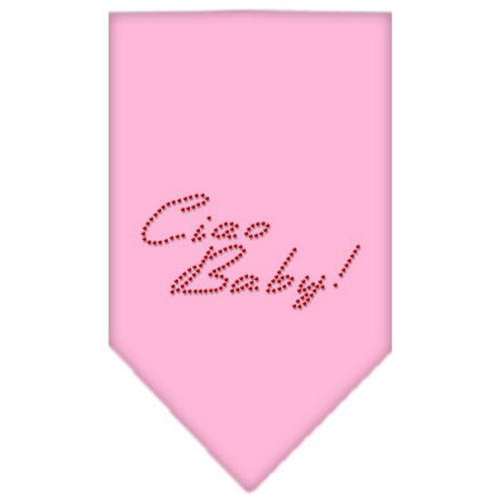 Ciao Baby Rhinestone Bandana Light Pink Small
