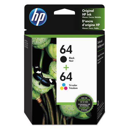 Ink Cartridge Combo Pack - HP 64 Black and Tri-color High Yield Original Ink Cartridges
