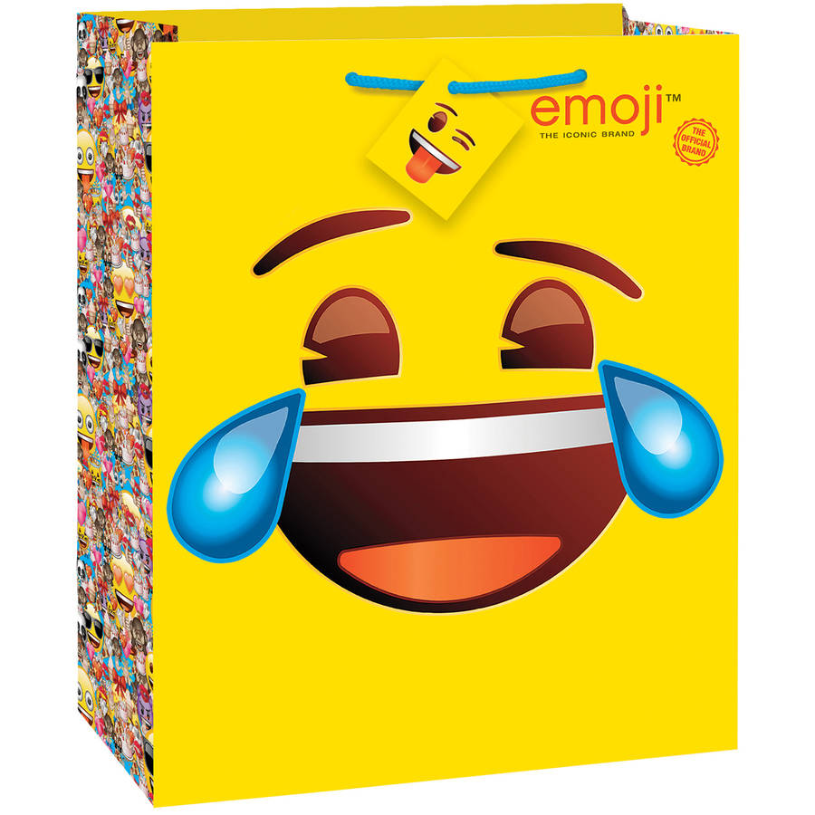 Emoji Gift Bag, 12.5 x 10.5 in, 1ct