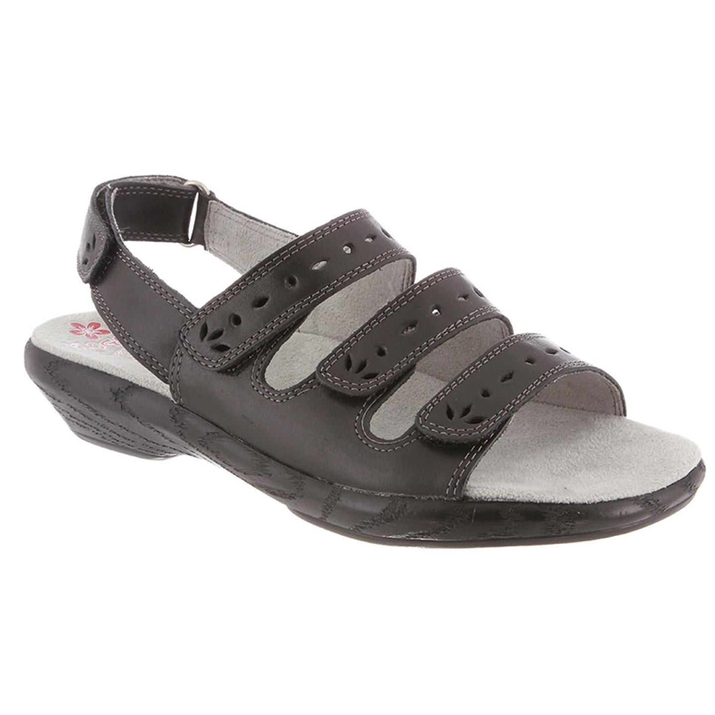 Lacie By Klogs Black Bali Womens Leather Sandals 7.5 M