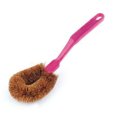 Household Kitchen Plastic Handle Pot Dish Cleaning Brush Purple 24.5cm Lenght - image 3 de 3