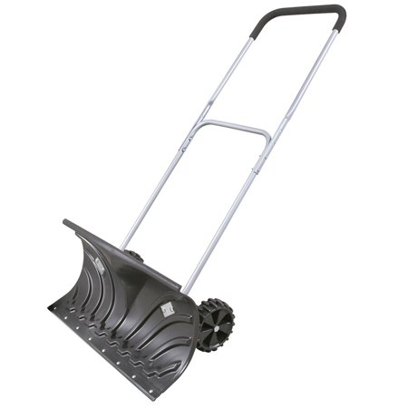 Rolling Snow Pusher - Shovel on - Snow Pusher Wood