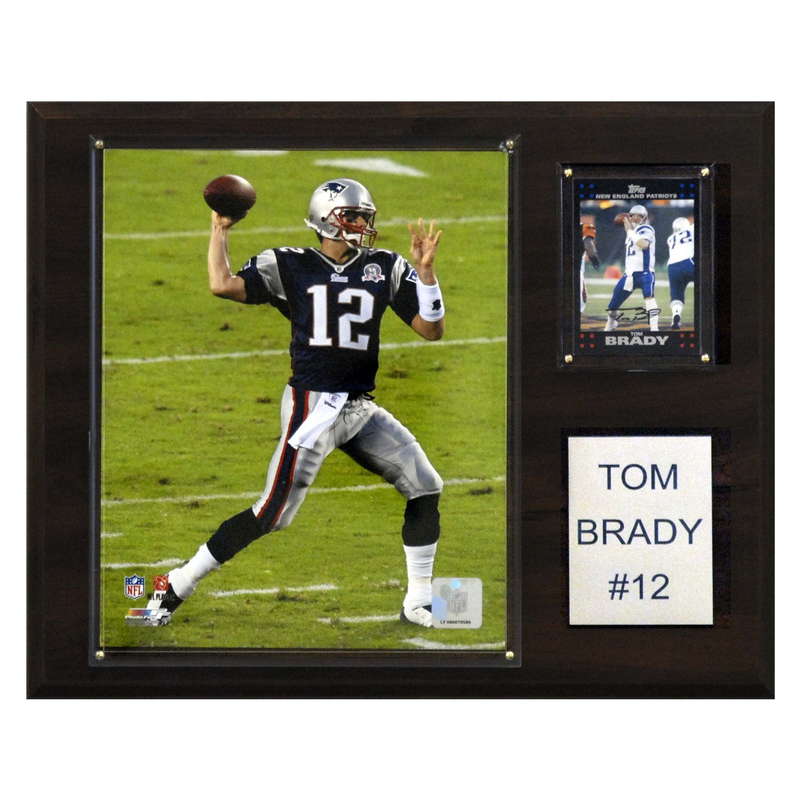 C&I Collectables NFL 12x15 Tom Brady New England Patriots Player Plaque