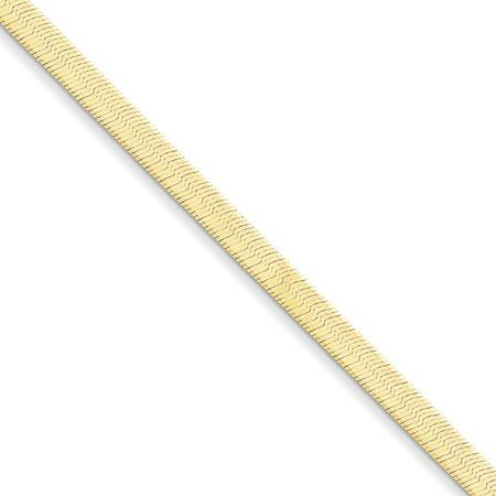 "14K Yellow Gold 4.00MM Silky Herringbone Link Bracelet, 7"""