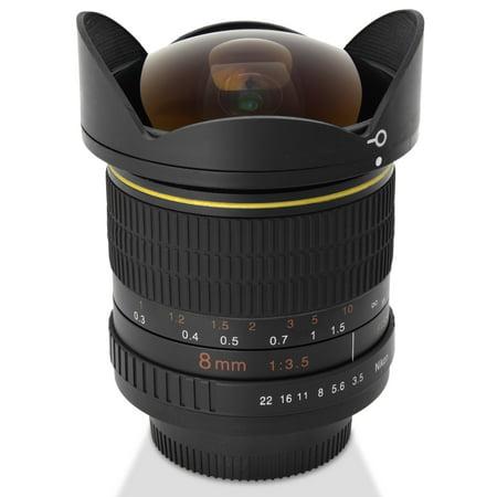 digitalmate 8mm aspherical super wide fisheye lens for. Black Bedroom Furniture Sets. Home Design Ideas