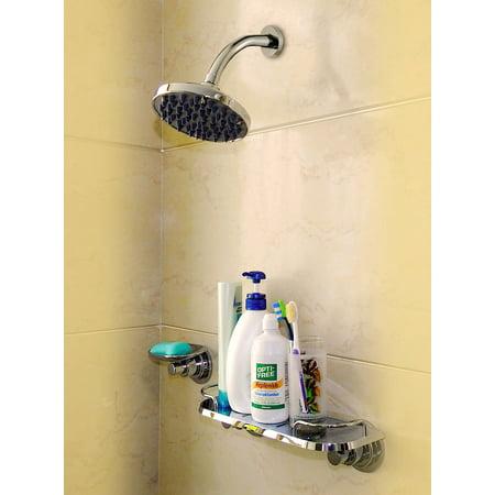 Suction Cup Organizer Bathroom Storage Rustproof Shelf Shower Caddy ...