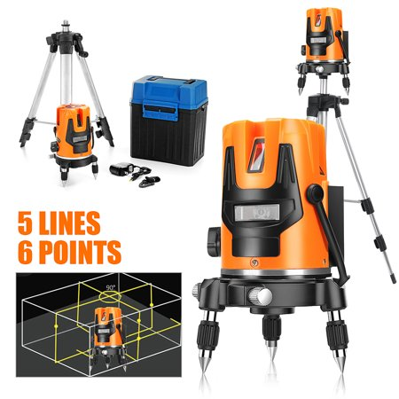 Self Leveling Line Laser - Professional Automatic Self Leveling 5 Lines 6 Points Laser Level Measure WithTripod
