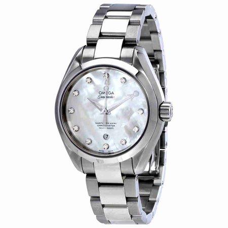 Omega Seamaster Aqua Terra White Mother Of Pearl Diamond Dial Ladies Watch 231 10 34 20 55 002