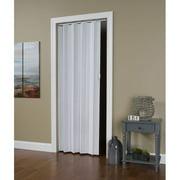 "Homestyles Regent PVC Accordion Door Fits 36""wide x 80""high White Mist Woodgrain Color"