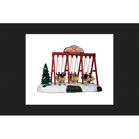 Lemax Animated Village Park Swing Boats Village Accessory Multicolored Resin 9 in. x 12 in. (Leaf Village Ninja)
