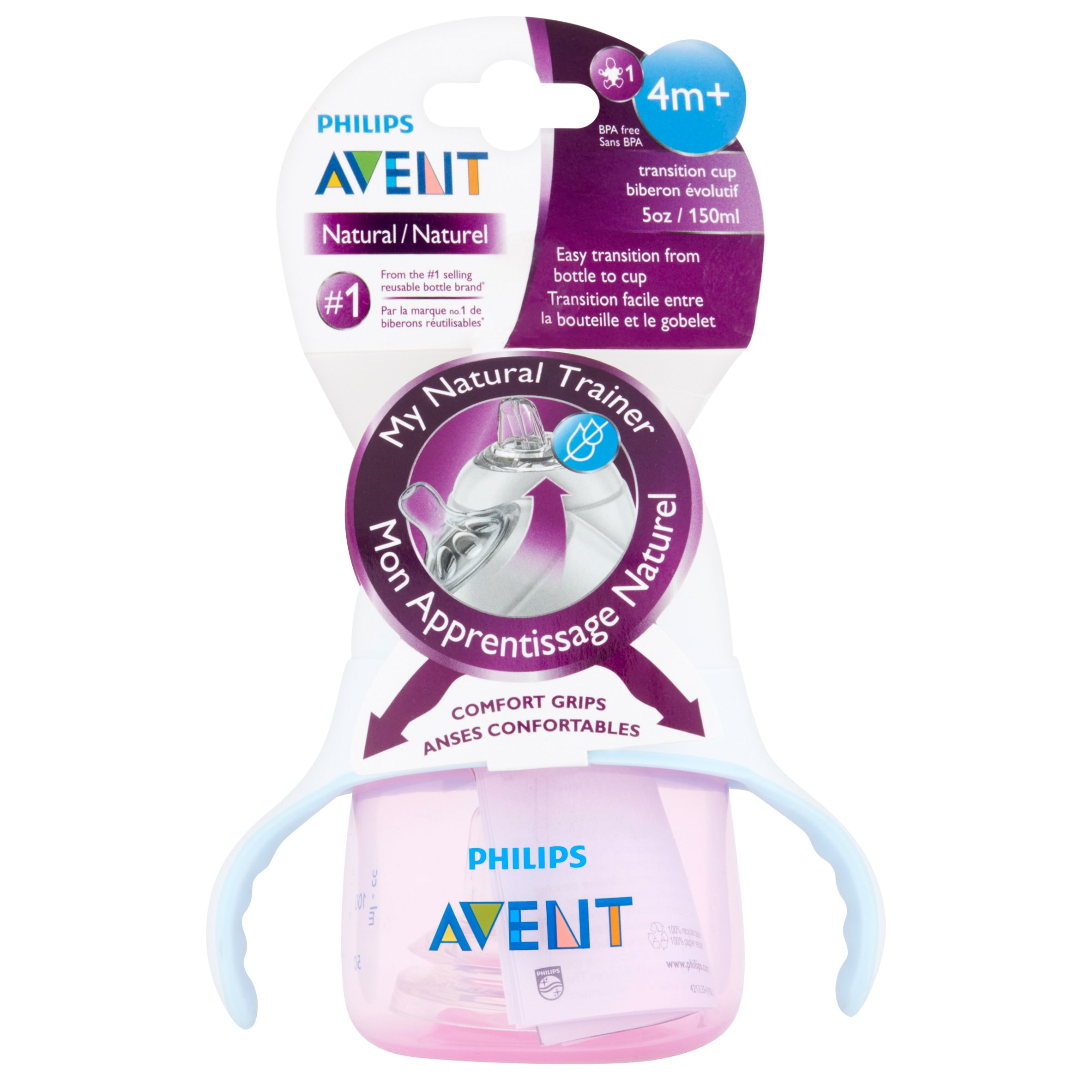 Philips Avent SCF251 03 My Natural Trainer Cup 5oz, 1pk clear by Philips AVENT