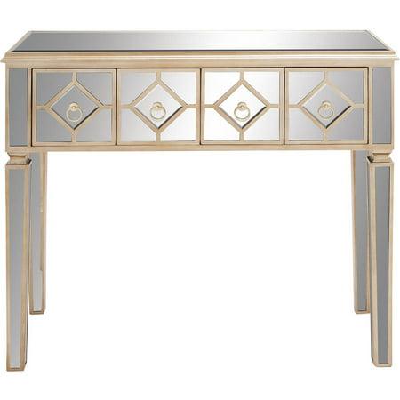 Decmode Wood Mirror Console Table Multi Color Walmart Com