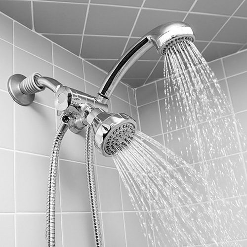 Bon Bed Bath N More Deluxe Easy Install 5 Function Dual Shower Head And  Massager Set In Chrome   Walmart.com