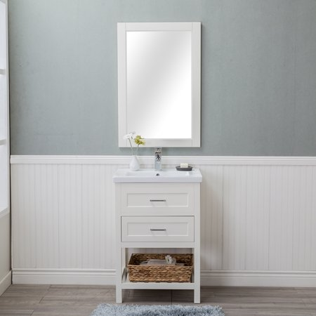 Vineland 24 In Single Bathroom Vanity Drawers In White With
