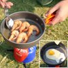 REDCAMP Camping Cookware Kit, 1-2 Person,Lightweight & Compact Camping Mess set, Non-stick Aluminum Camping Pots and Pans Set