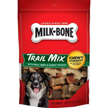 Milk-Bone Trail Mix With Real Beef & Sweet Potato Dog Snacks, 9-Ounce