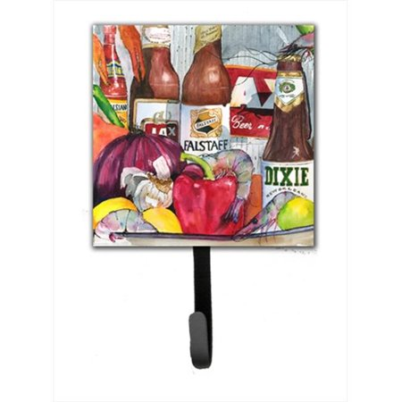 Carolines Treasures 1017-1SH4 New Orleans Beers And Spices Leash Holder Or Key Hook - image 1 of 1