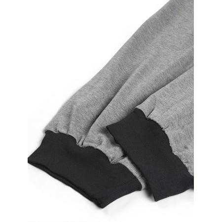 Women Plus Size Drawstring Waist Contrast Color Jogger Pants Gray 2X - image 4 de 7