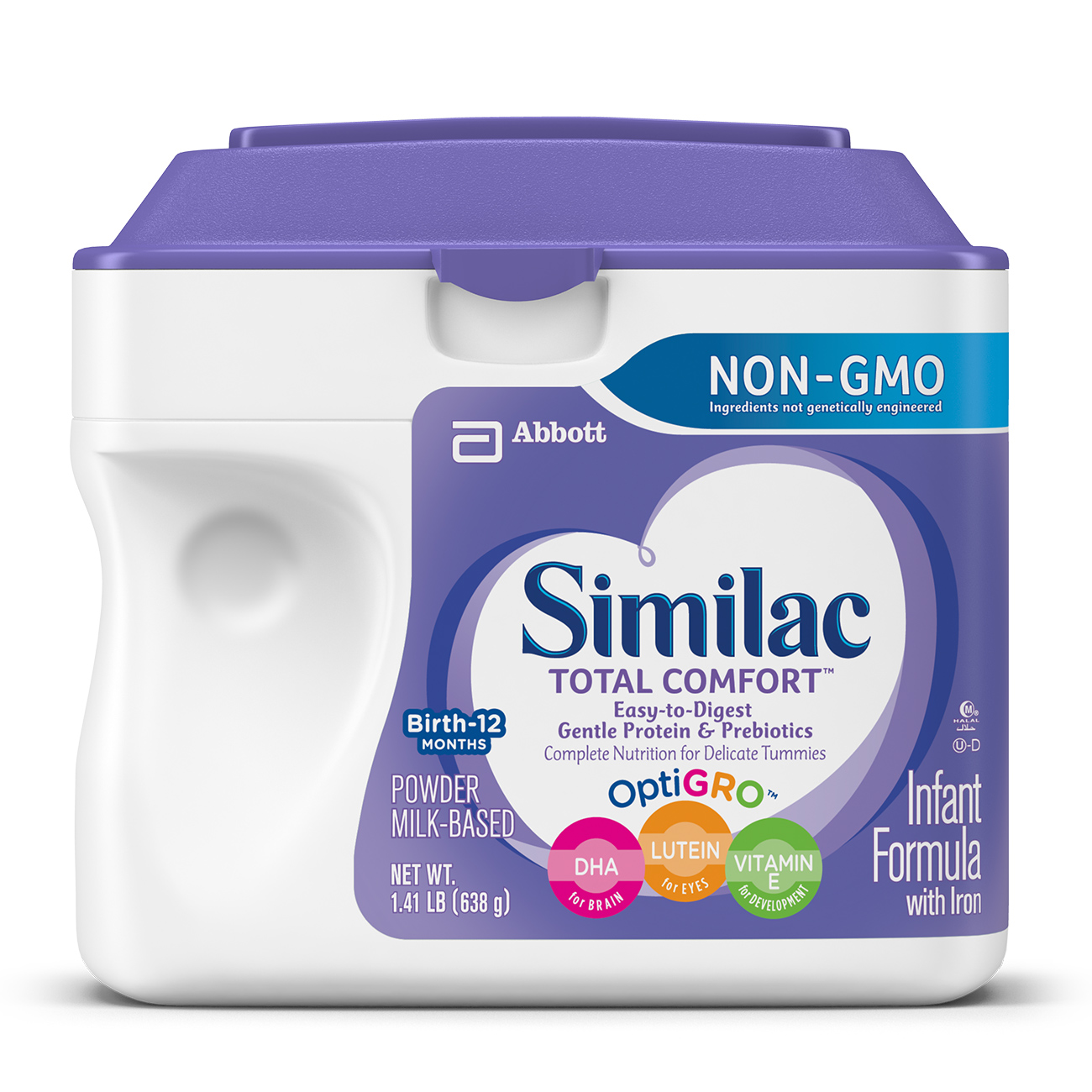 Similac Total Comfort NON-GMO Infant Formula with Iron, Powder, 1.41 lb