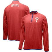 Philadelphia Phillies New Era Brushed Jersey Raglan Quarter-Zip Pullover Jacket - Red