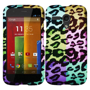 Motorola Case, Slim Rubberized Hard Shell Snap On Protective Case Impact Defender Cover for Motorola Moto G XT1032 - Pink Exotic Skins
