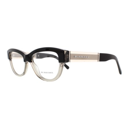 7257d1449a6 BURBERRY Eyeglasses BE 2208 3558 Top Black On Grey 51MM - Walmart.com