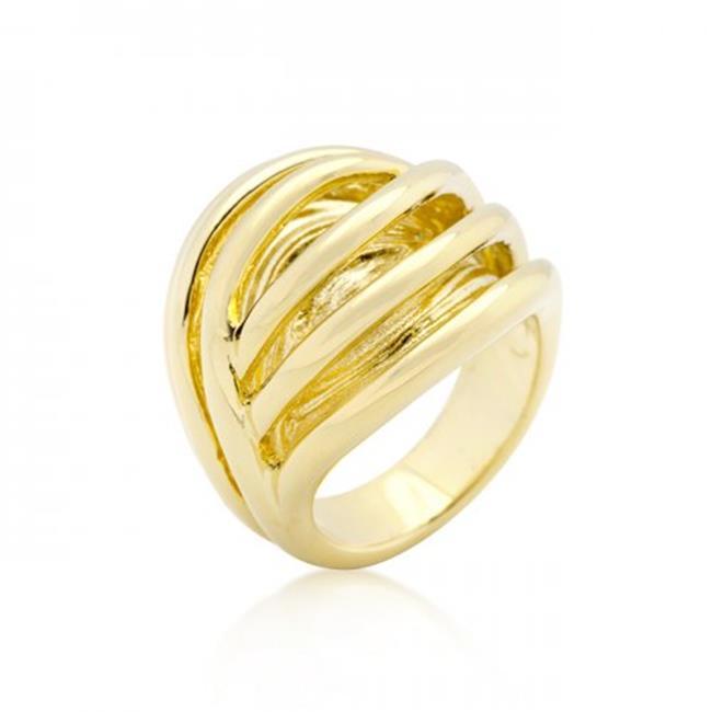 Icon Bijoux R08272G-V00-06 Golden Illusion Fashion Ring (Size: 06)