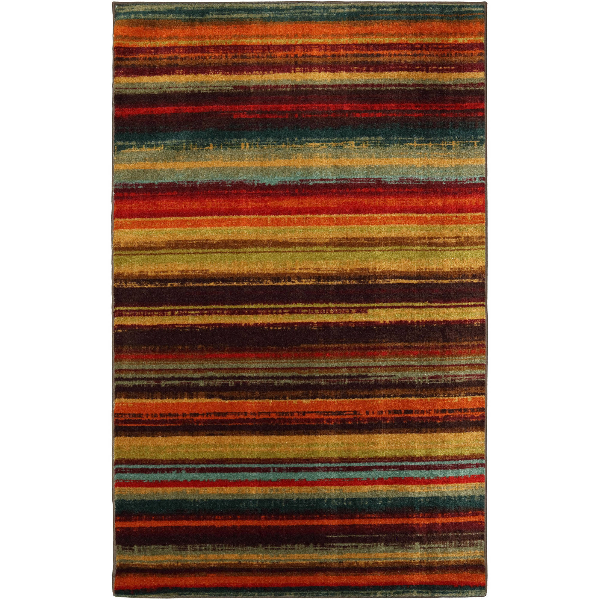 Mohawk Home Boho Stripe Printed Nylon Area Rug