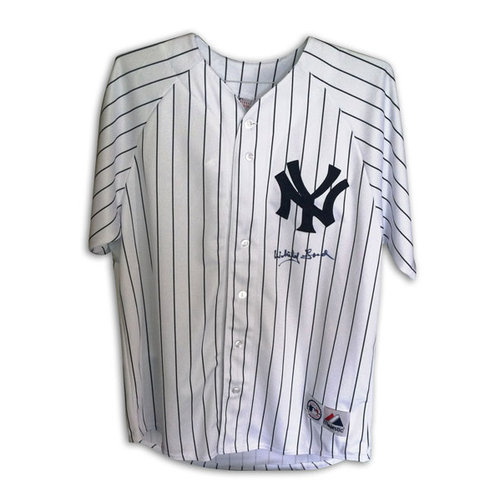 MLB - Whitey Ford New York Yankees Autographed Majestic Pinstripe Jersey