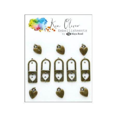 Maya Road KOliver Vintage Charms Lock My (Maya Road Chipboard)