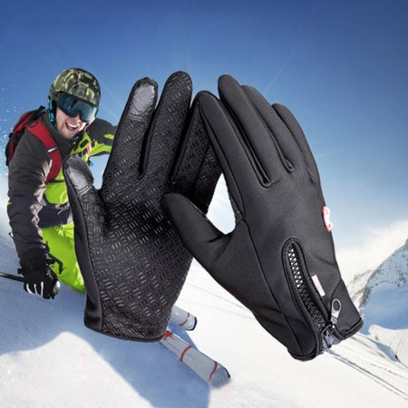 1 Pair Winter Windproof Touch Screen Full Finger Cycling Gloves For Smart Phone Motorcycle Gloves Bike Bicycle Motor Riding