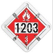 LABELMASTER Placard,13-1/2inx13-1/2in,Alum,Wht/Red, 126SF-5GRNF7