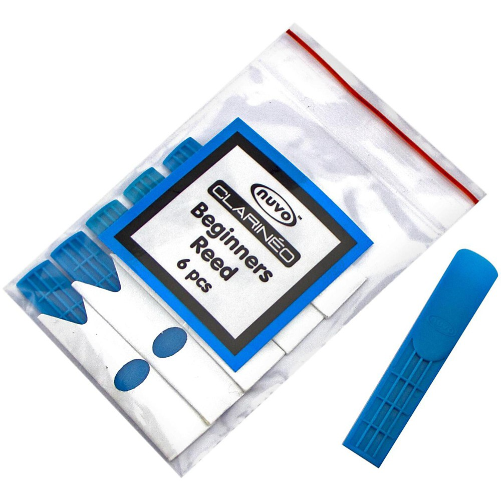 Nuvo Clarineo Plastic Reed (6-Pack) Colors Blue