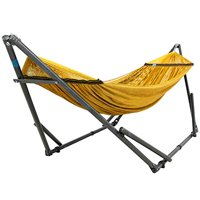 Tranquillo Portable Hammock Stand - Adjustable Stand and Polyester Hammock Net with Carry Bag - Steel / Yellow