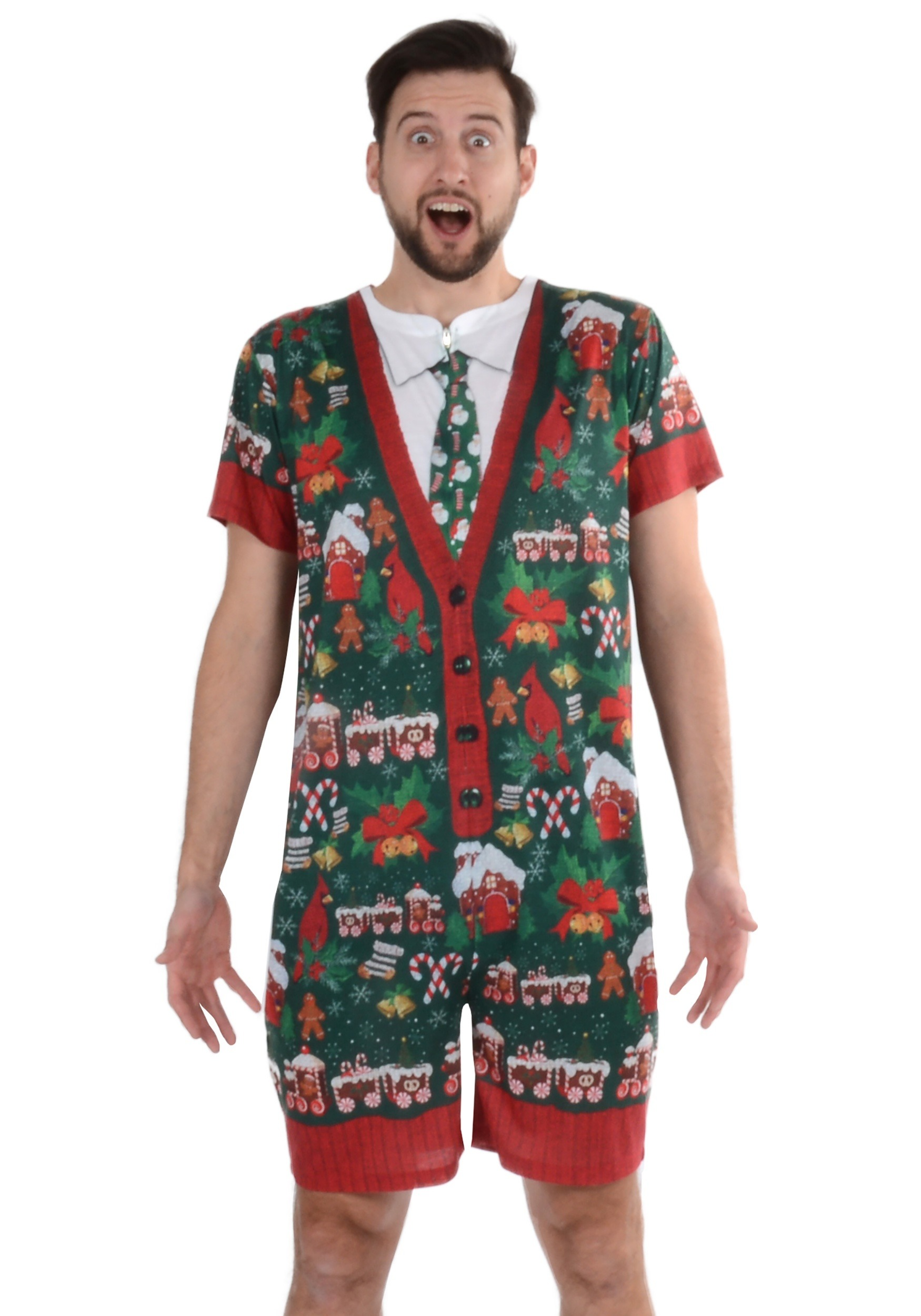 Creative Apparel Concept Inc Mens Ugly Christmas Sweater Romper