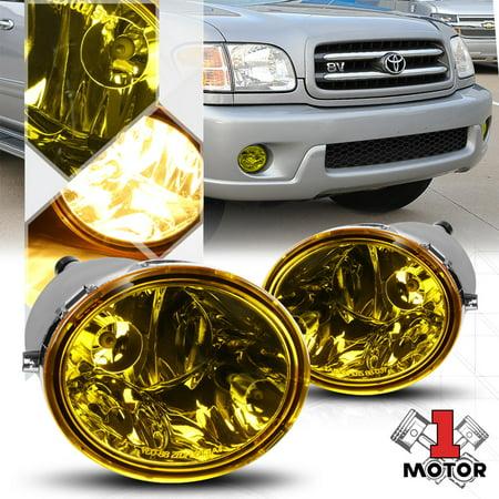 Golden Yellow Lens Fog Light Bumper Lamps for 00-06 Toyota Tundra/01-07 Sequoia 01 02 03 04 05