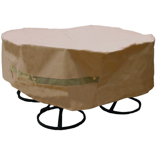 Sure Fit Original Round Table/Chair Set Cover, Taupe