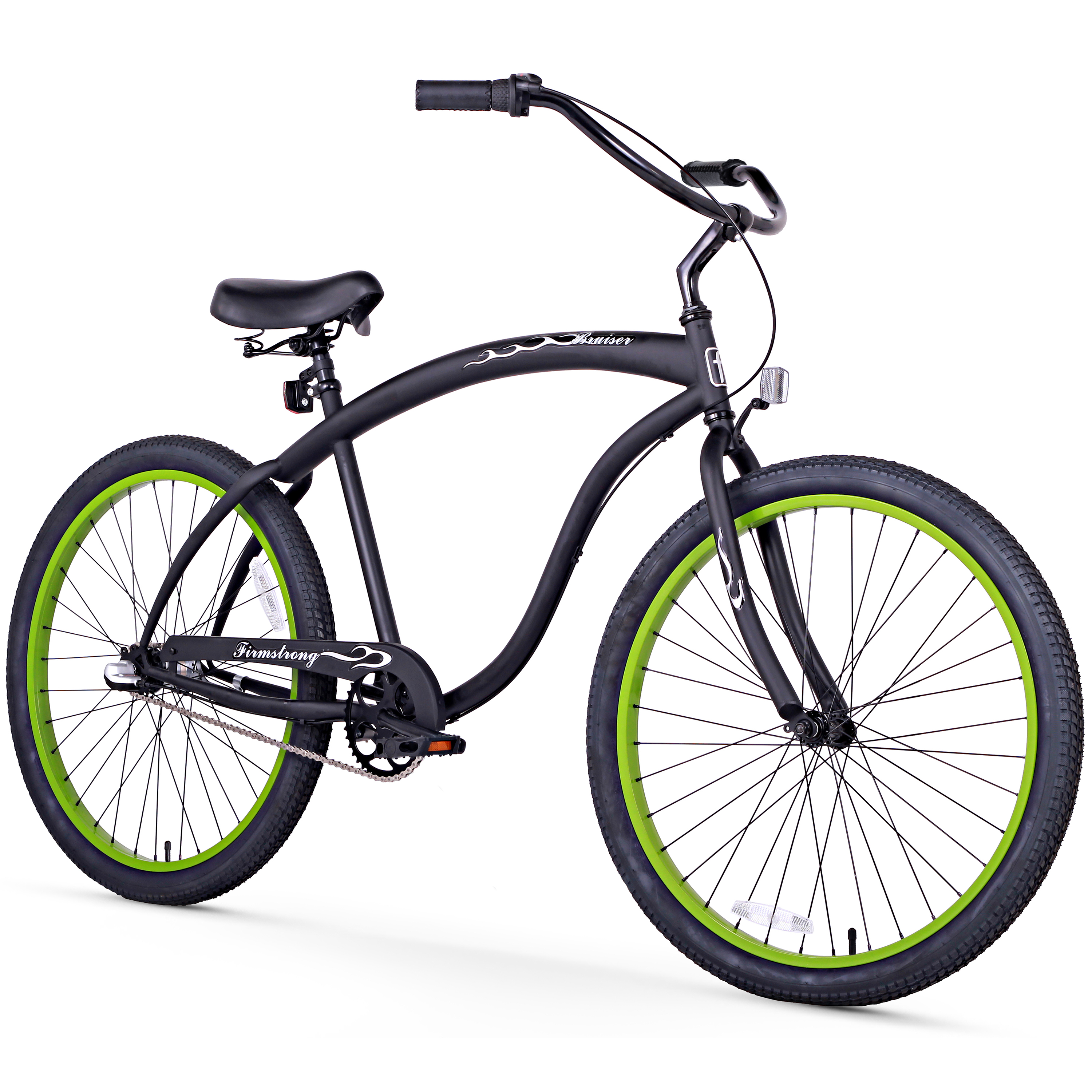 "Click here to buy 26"" Firmstrong Bruiser Man Three Speed Beach Cruiser Men's Bicycle, Matte Black by Sixthreezero."