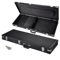 Yescom Universal Square Electric Guitar Hard Case Wooden Hard Shell Carrying Case with Key