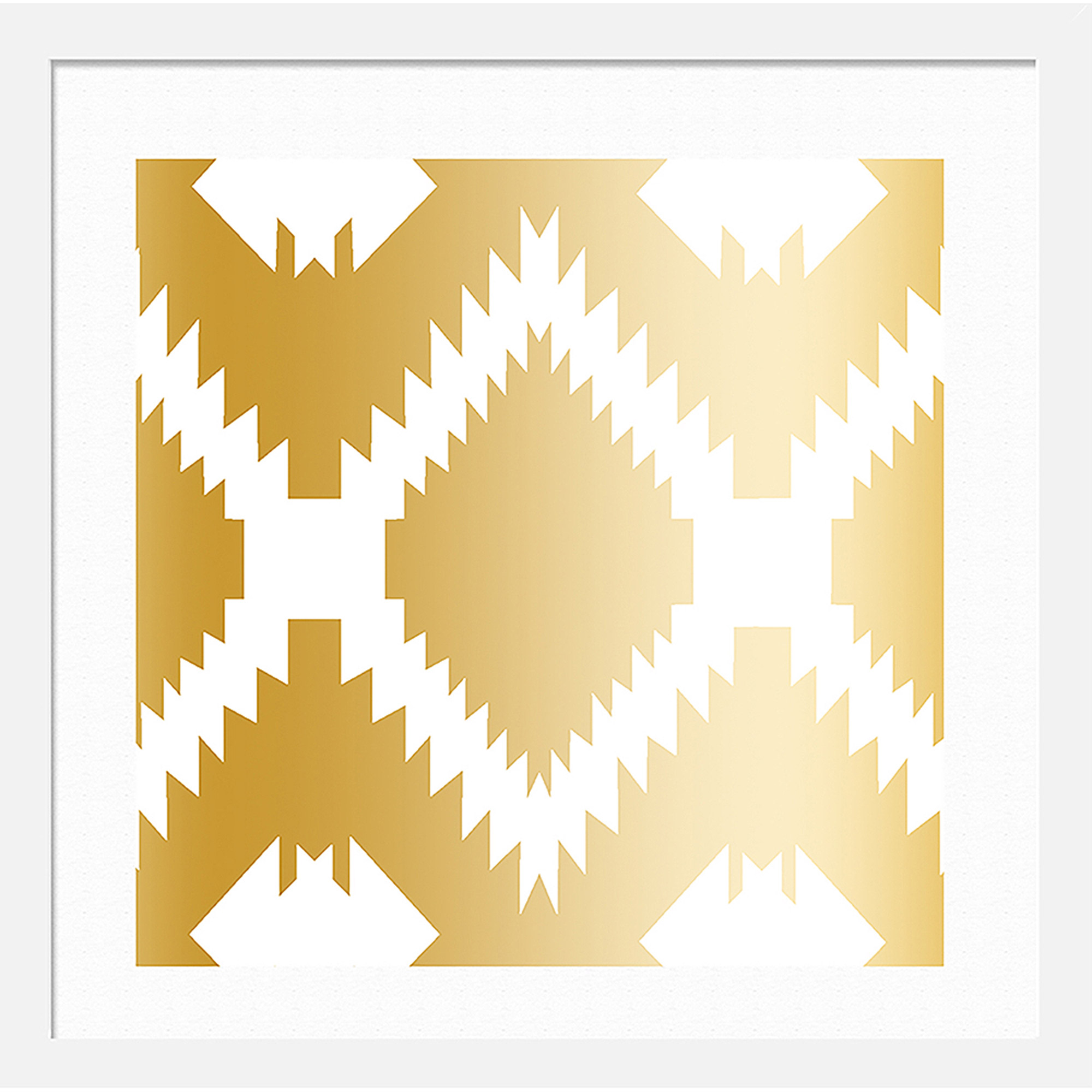 Aztec Pattern II Wall Art, 12x12