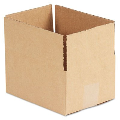 Brown Corrugated - Fixed-Depth Shipping Boxes, 8l X 6w X 4h, 25/bundle